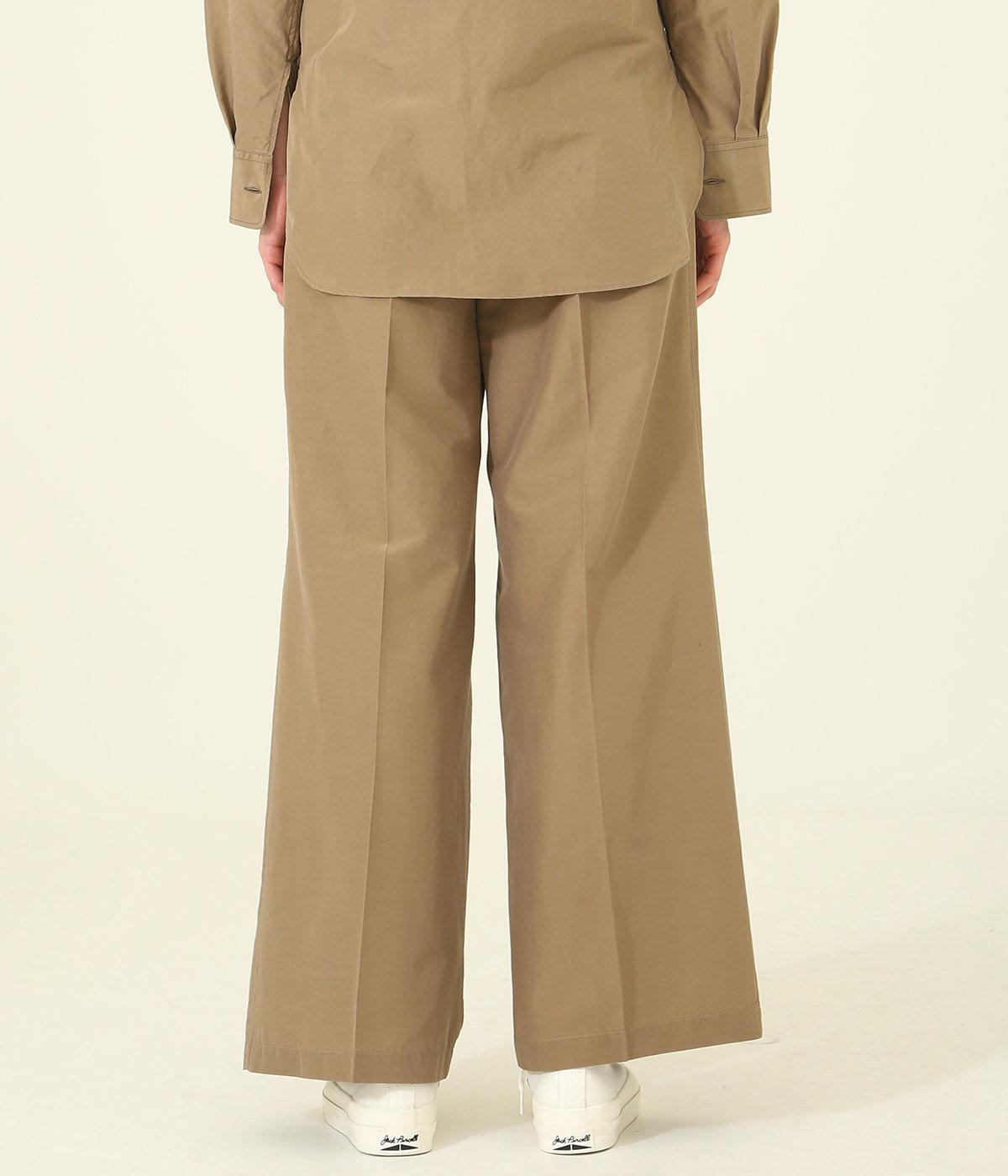【レディース】SILK COTTON CLOTH WIDE PANTS