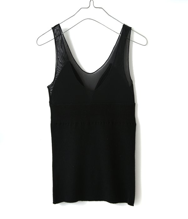 【レディース】cashimere silk & tulle tank top