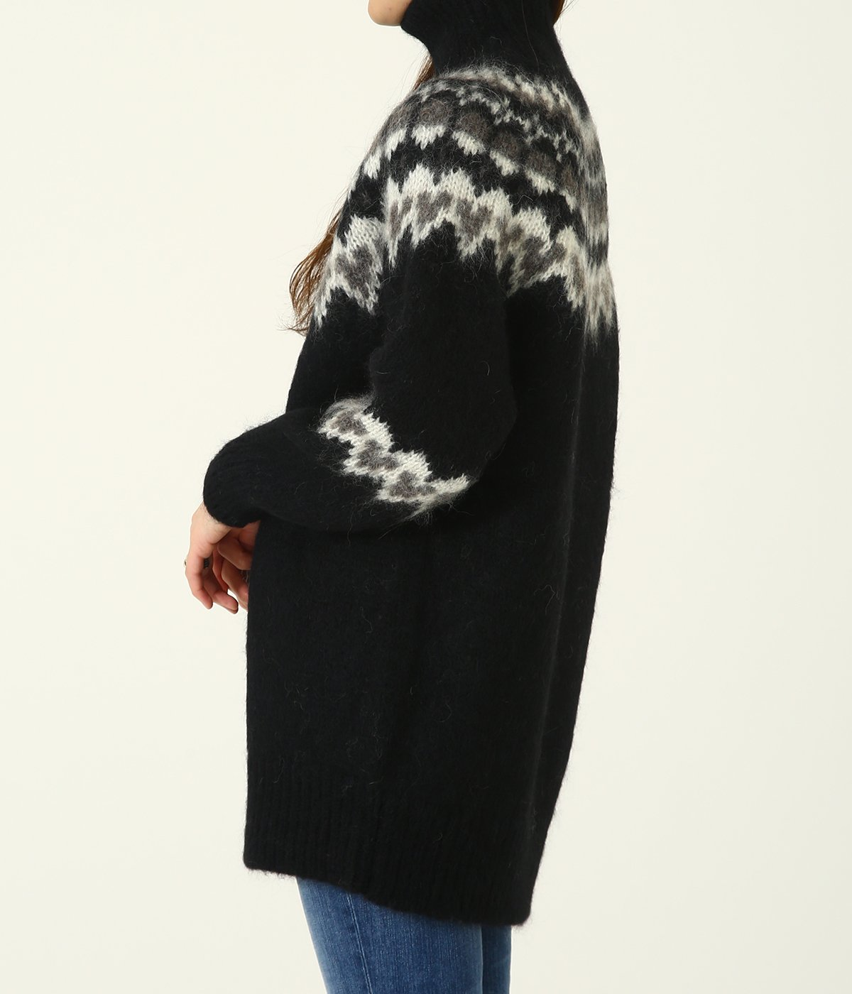 【レディース】MOHAIR NORDIC TURTLE NECK TUNIC