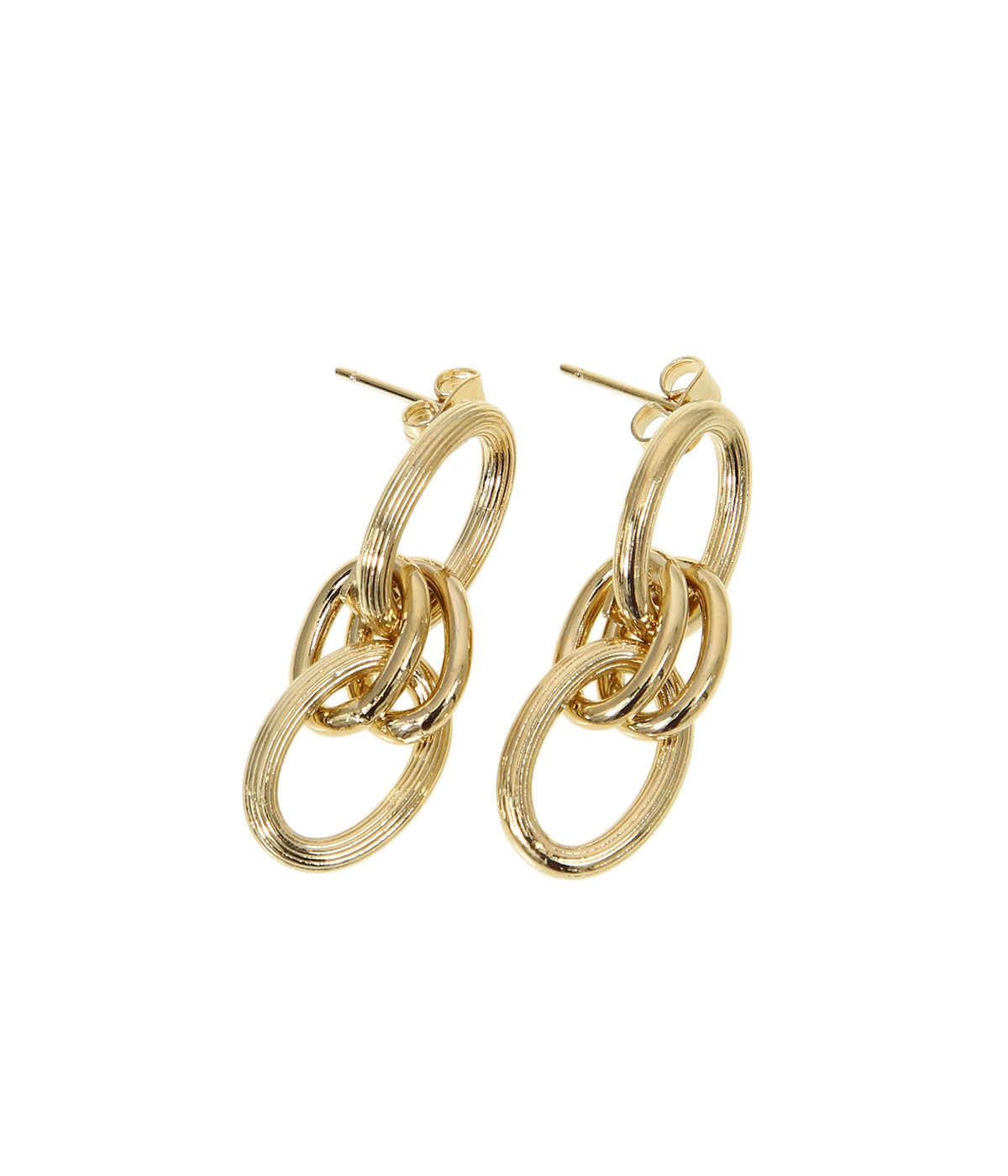 【レディース】Byron pm earring S brass(light gold)