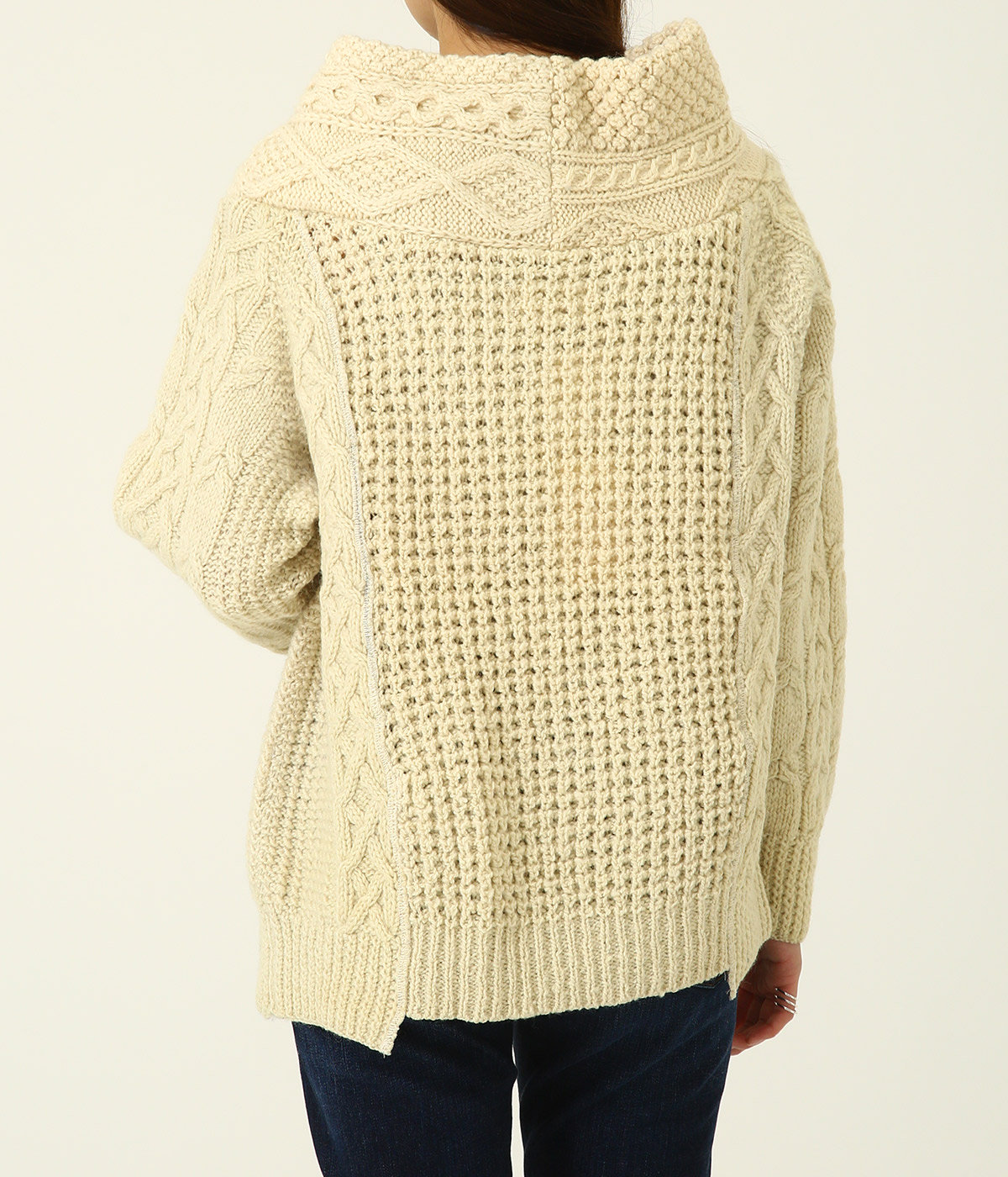 【レディース】circa make thick v/n fisherman sweater