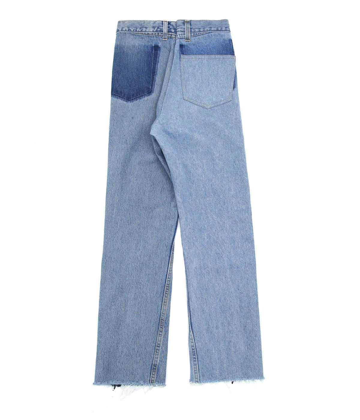 【レディース】【別注】circa make cut off rotated 90° denim pants(length 105) -26inch-