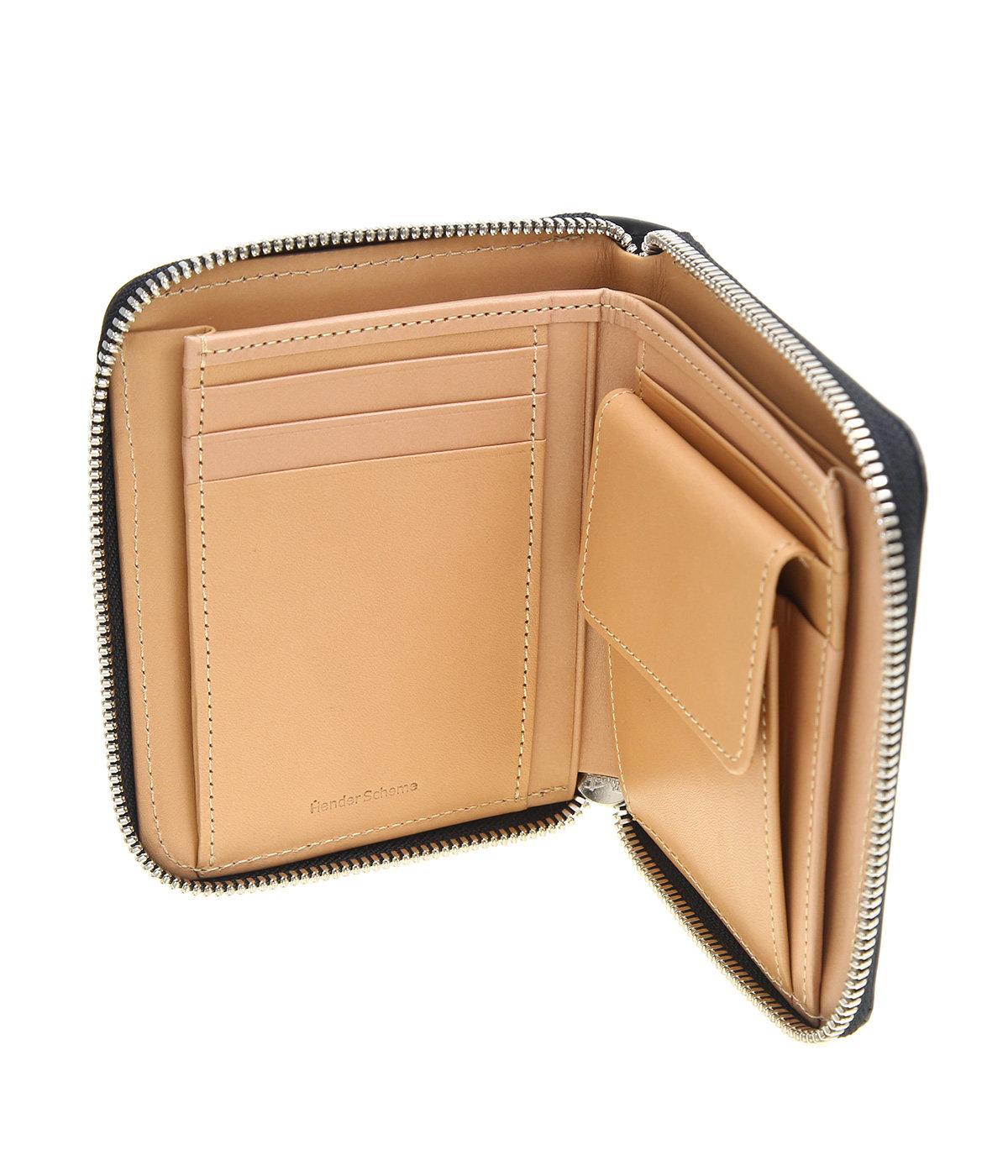 square zip purse