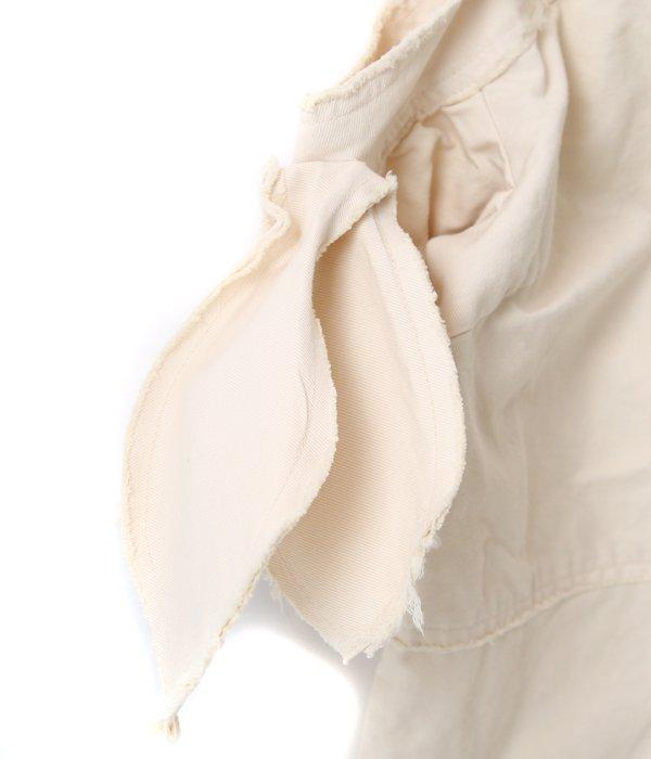 【レディース】Open Shoulder Cut Off Blouse