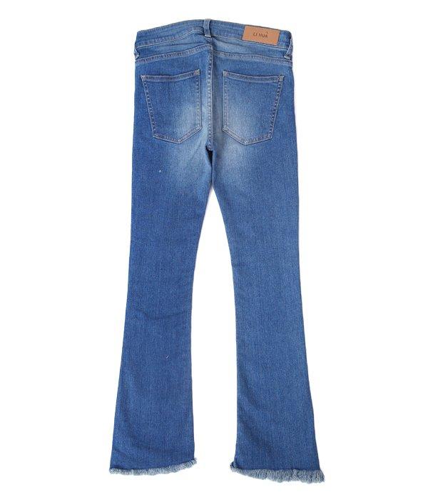 【レディース】Cut off Cropped Denim Pants