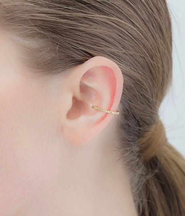 【レディース】Square Diamond Ear Cuff(イヤーカフ)