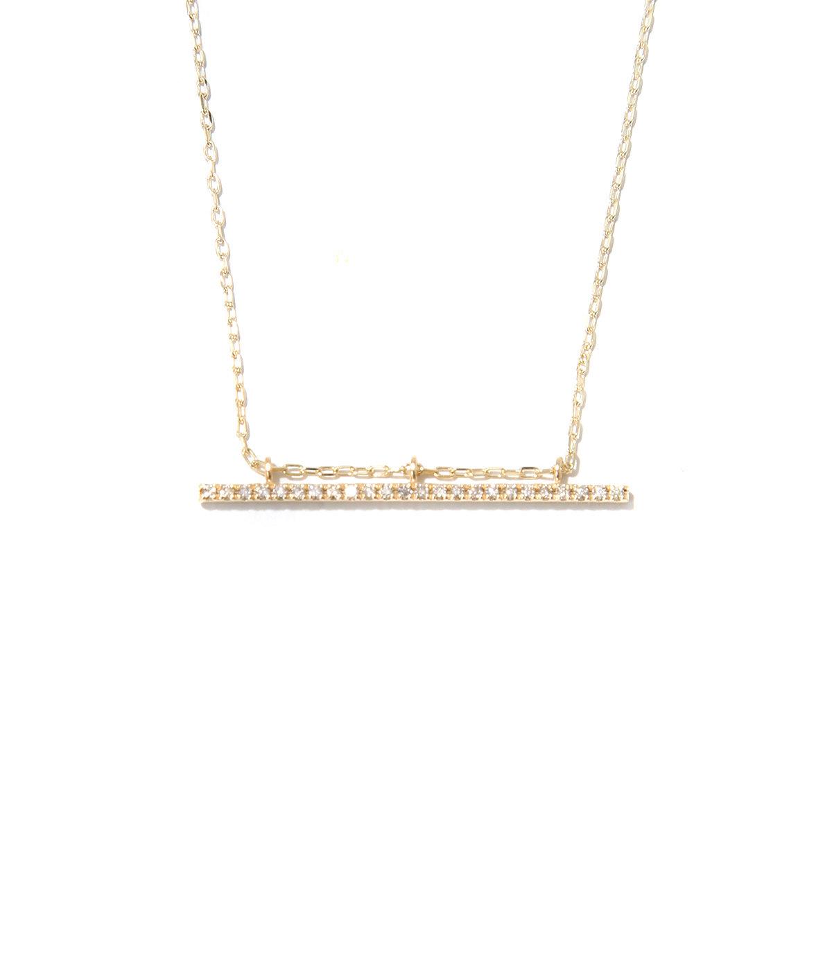 【レディース】Gossamer Diamond  Bar Necklace(ネックレス)