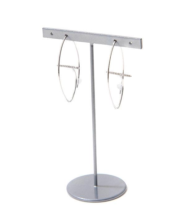 【レディース】Gossamer Floating Diamond Bar Oval Earring M(ピアス)