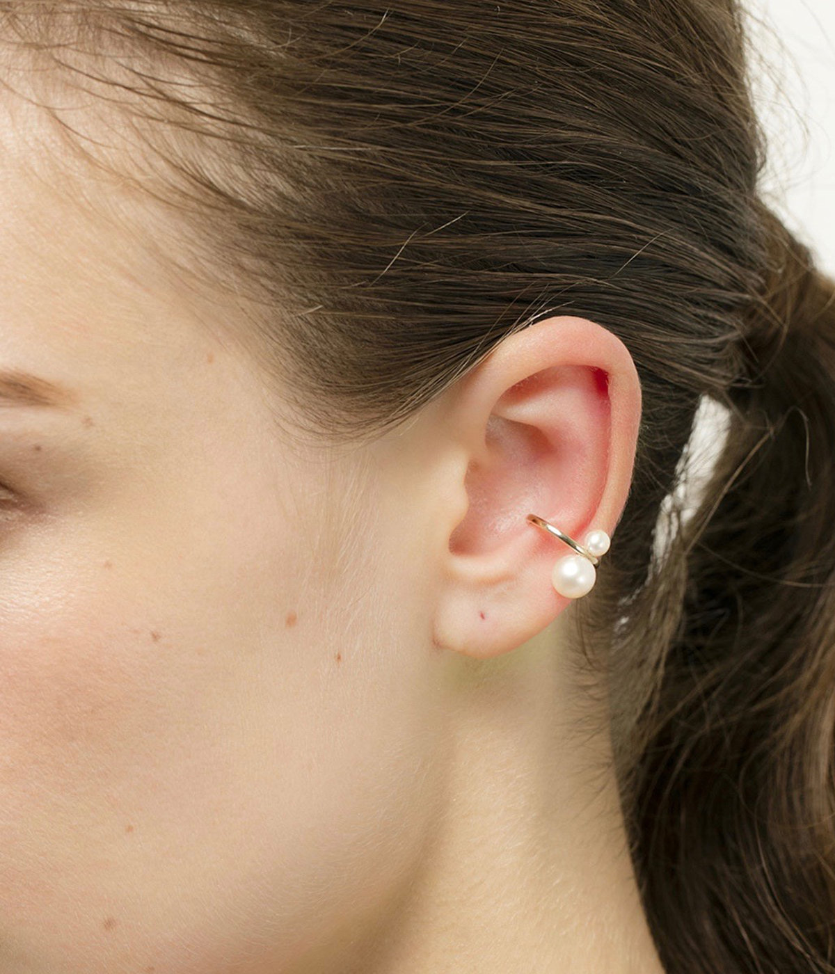 【レディース】Double Pearl Ear Cuff(イヤーカフ)