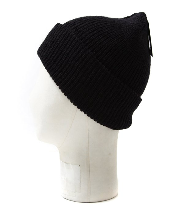 Wool Knit Cap - Black MADE IN U.S.A.