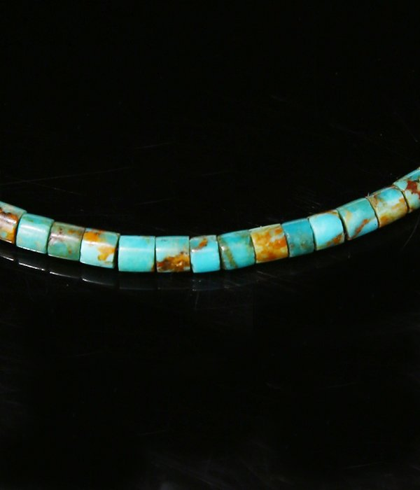 Boulder Heishi Turquoise With NAVAJO CHAIN