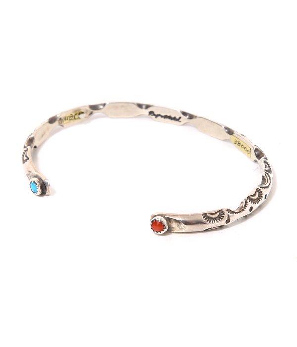 RayAdakai HALF circle bracelet -4W/W TQ+CORAL