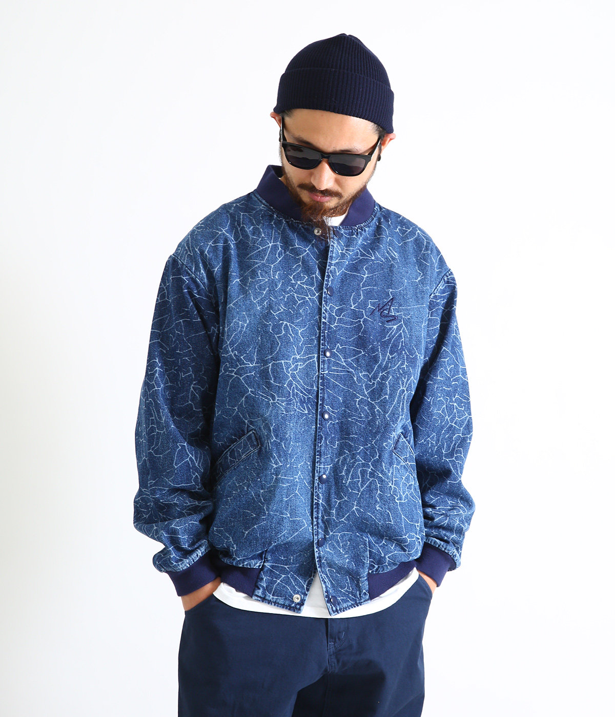 DENIM CRACK RIB JKT