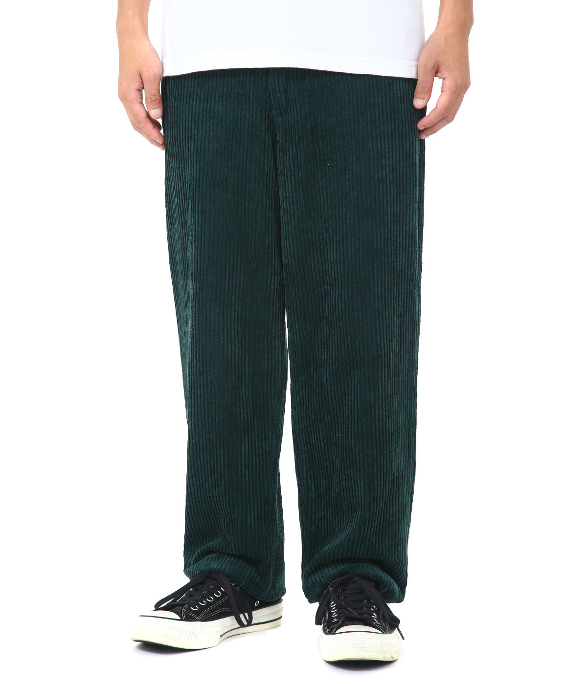 thomas -dark emerald corduroy-