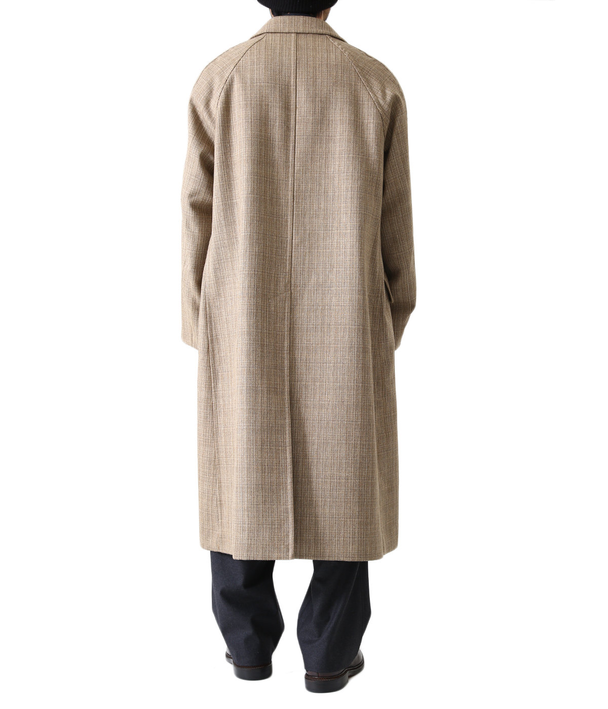 BLUEFACED WOOL DOUBLE CLOTH CHESTERFIELD COAT