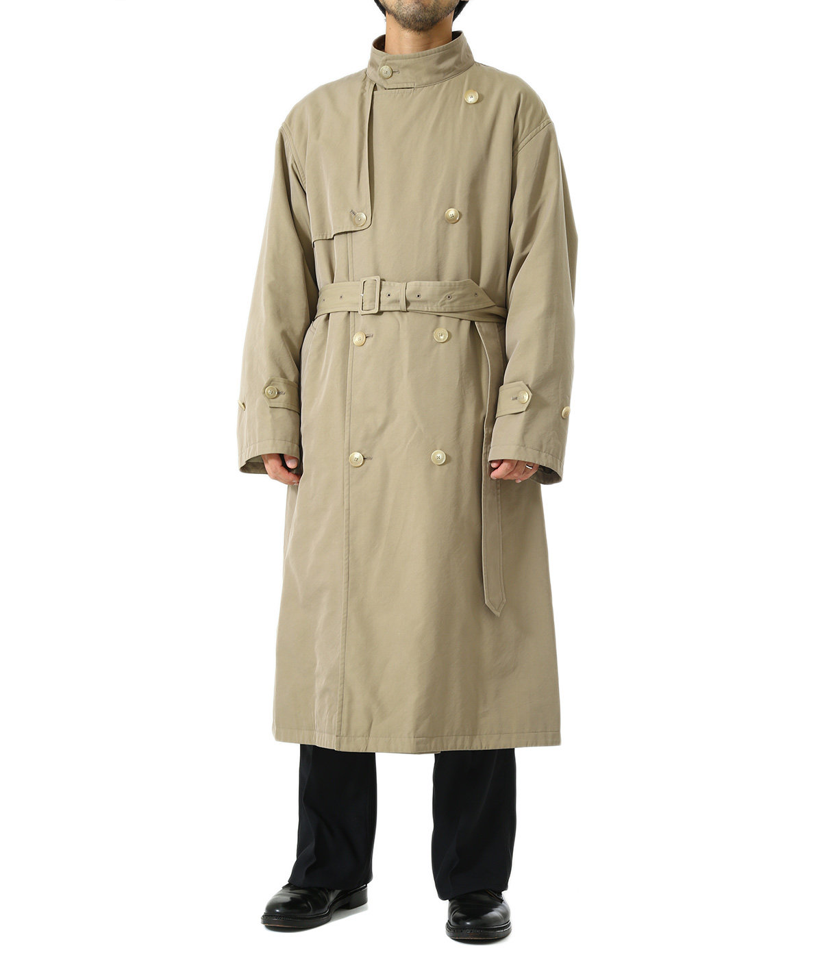 WASHED FINX CUPRO TWILL LONG COAT