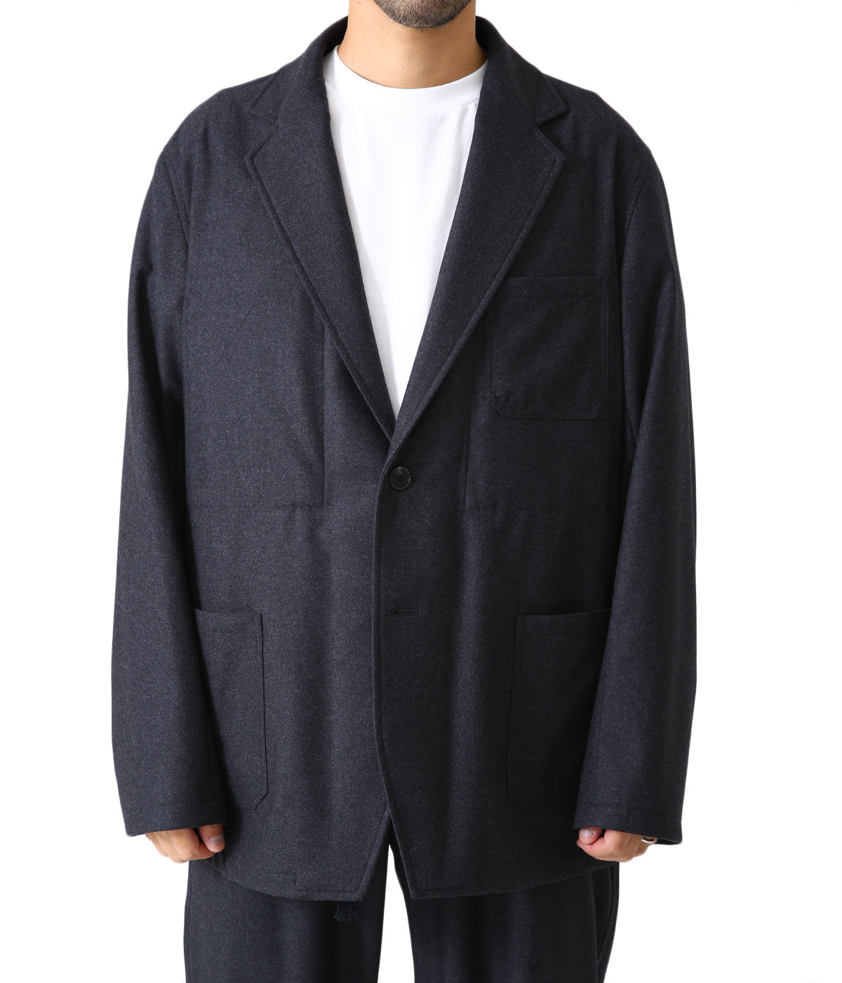 WOOL FULLING FLANNEL JACKET