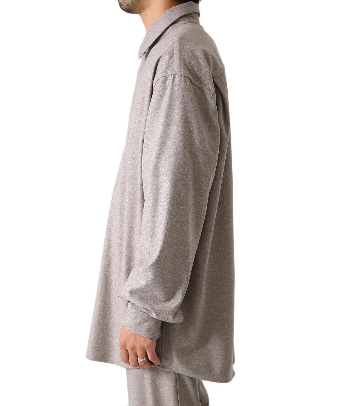 WOOL FULLING FLANNEL CLOTH SHIRTS