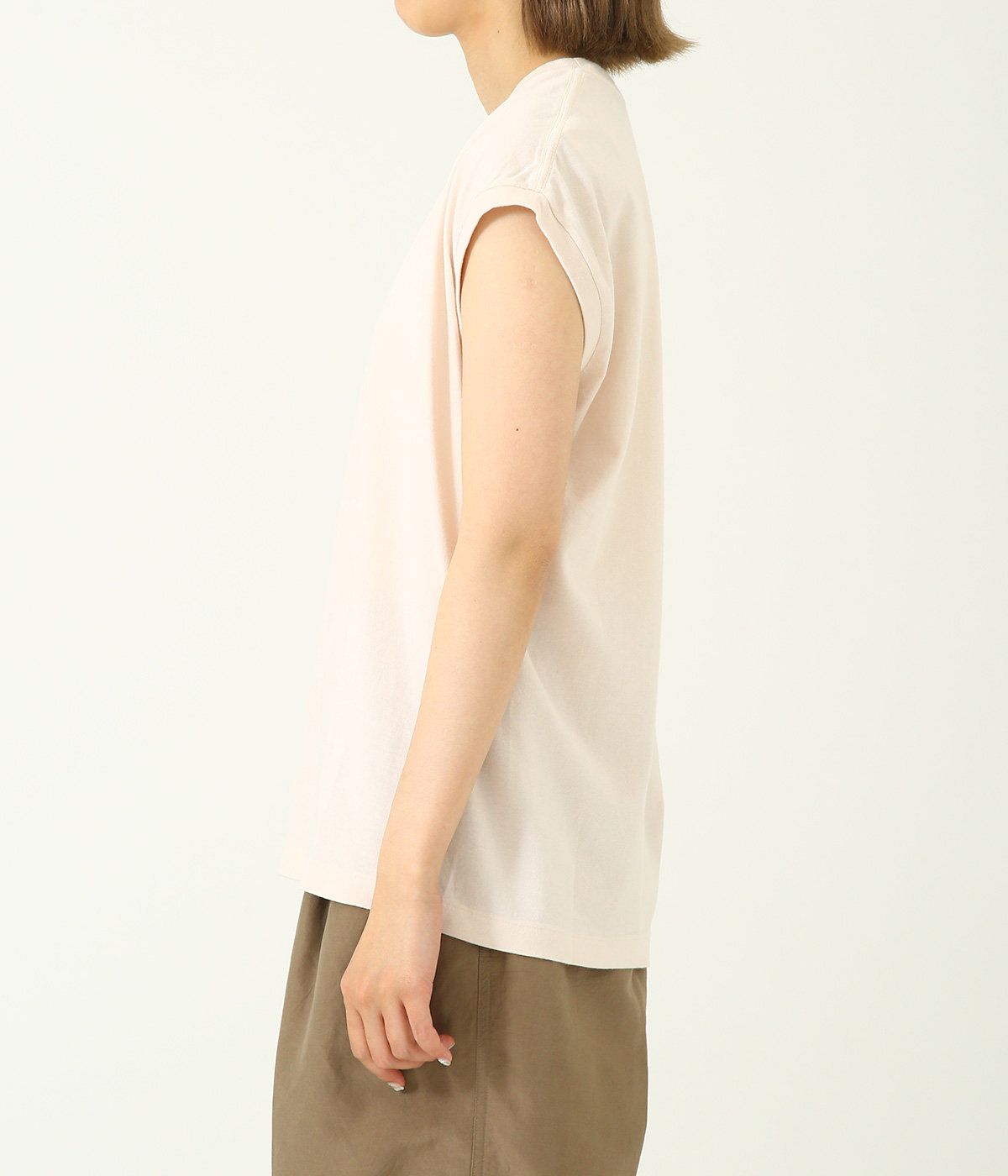 【レディース】SEAMLESS CREW NECK SLEEVELESS