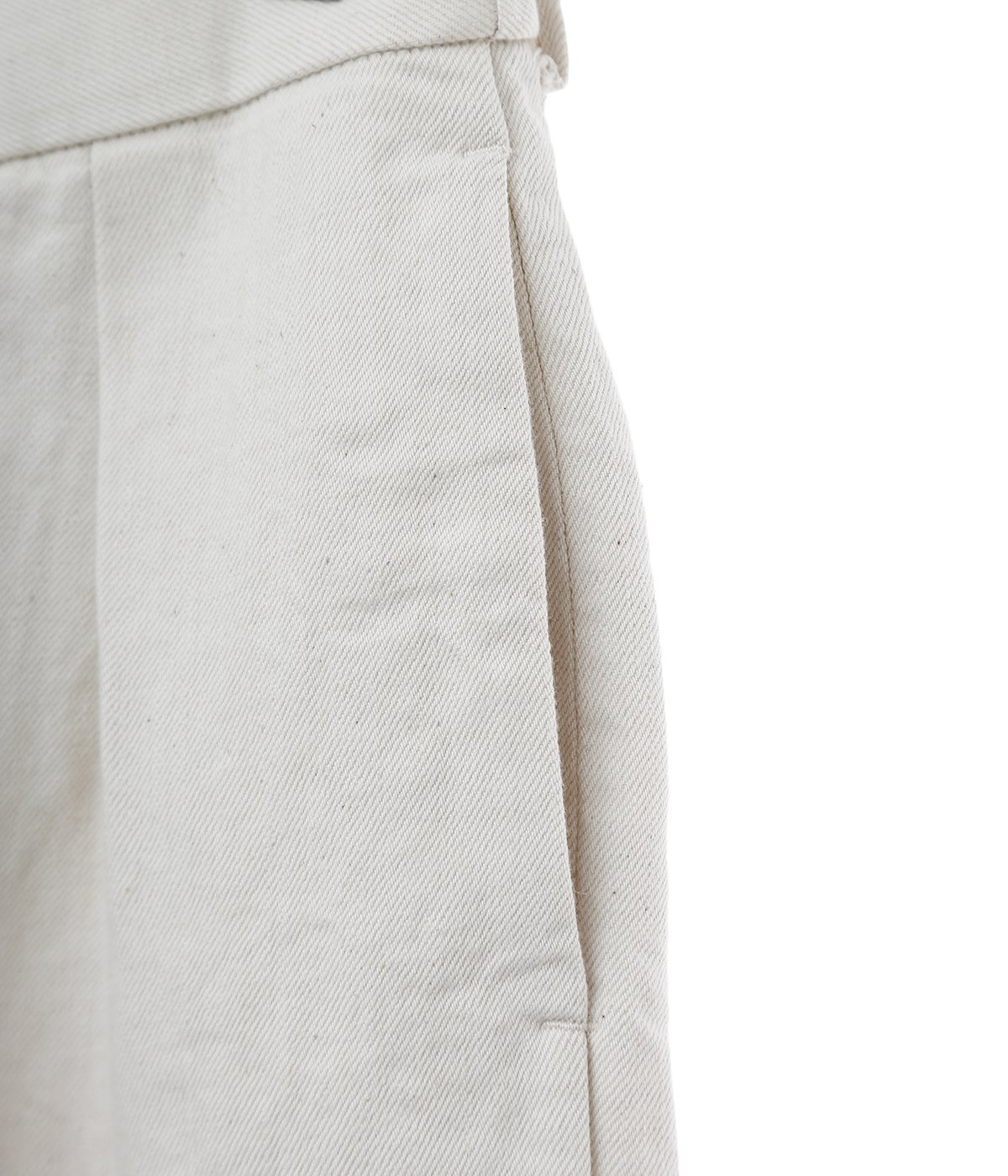DOUBLE PLEATED TROUSERS - HEMP×ORGANIC COTTON DRILL -