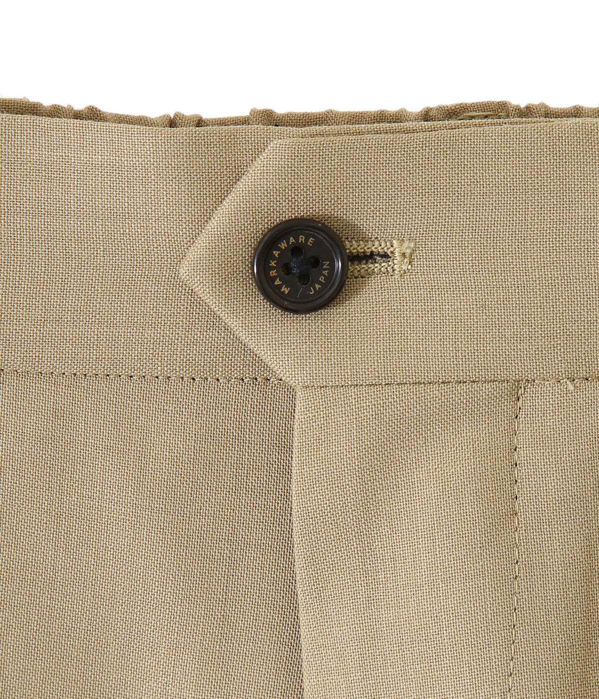 FLAT-FRONT TROUSERS - ORGANIC WOOL TROPICAL -