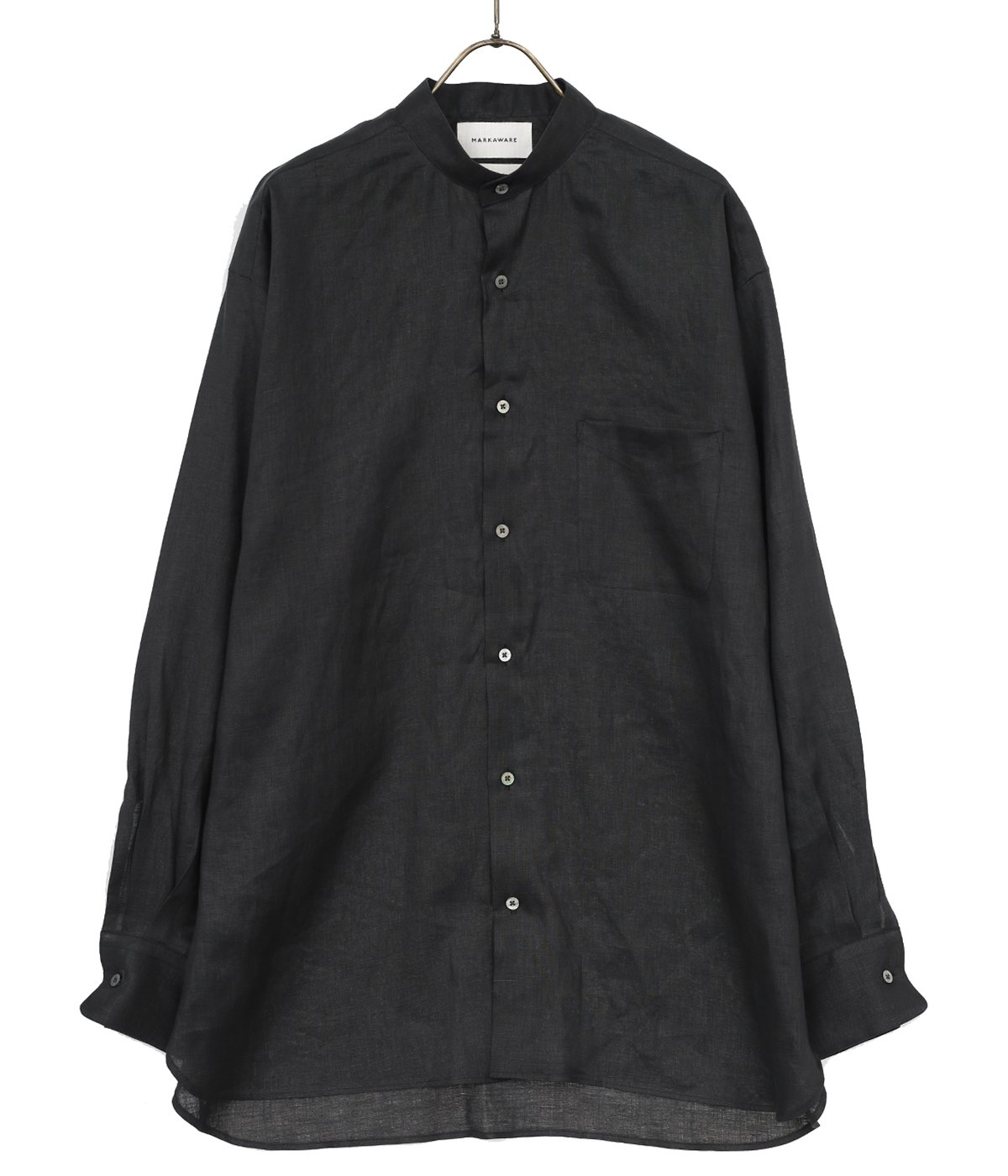 COMFORT FIT BAND COLLAR SHIRT - HEMP SHIRTING -