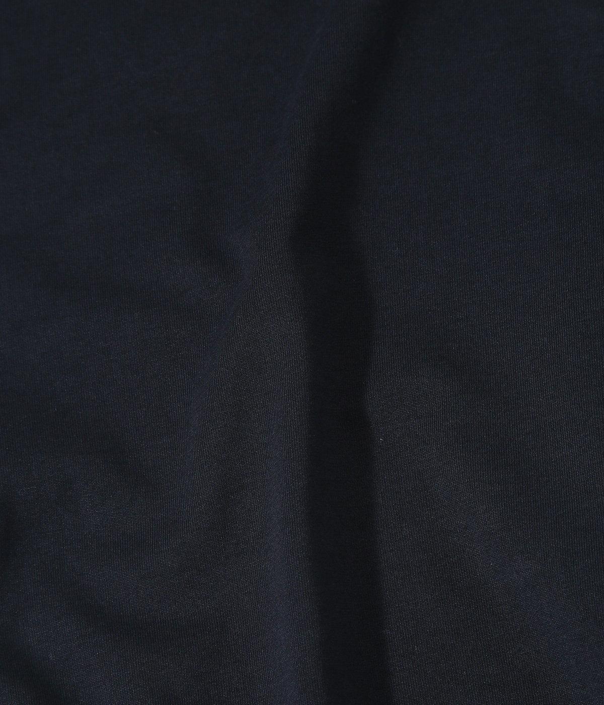 【レディース】ORGANIC COTTON COMPACT JERSEY HALF ZIP HI NECK L/S TEE