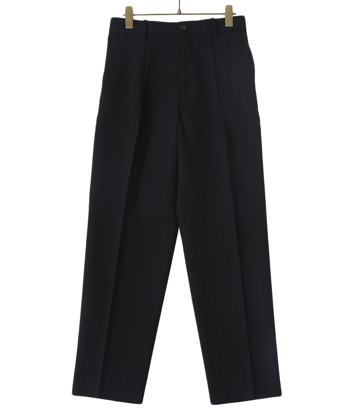 【予約】PLEATED FRONT PEGTOP-ORGANIC WOOL SURVIVAL CLOTH-