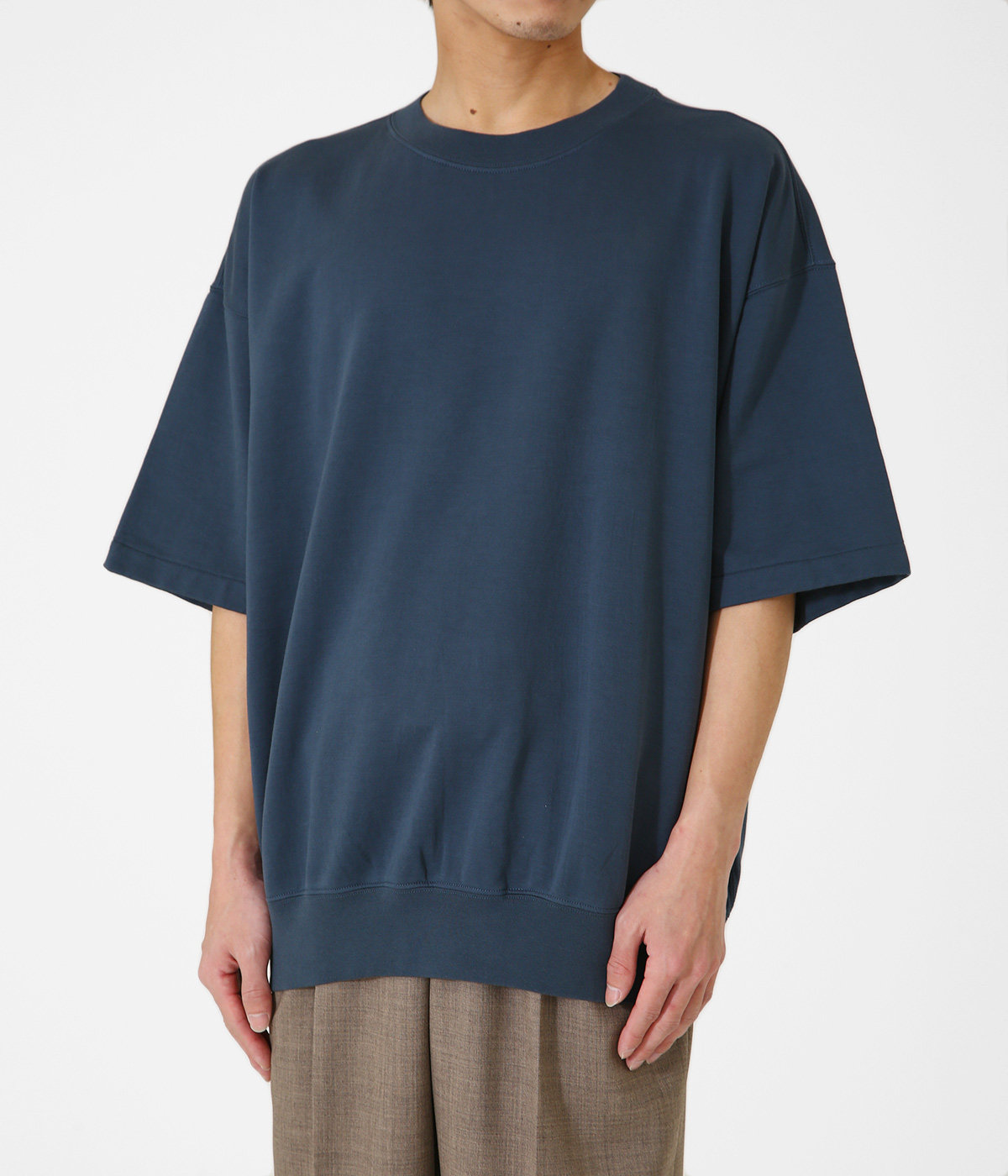 SUPER HIGH GAUGE NAPPED SWEAT TEE