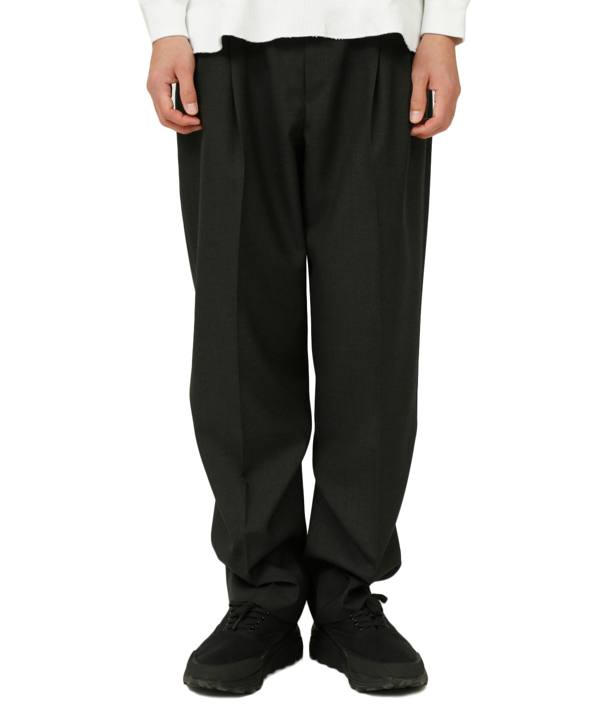 WASHABLE WOOL TROPICAL SLACKS