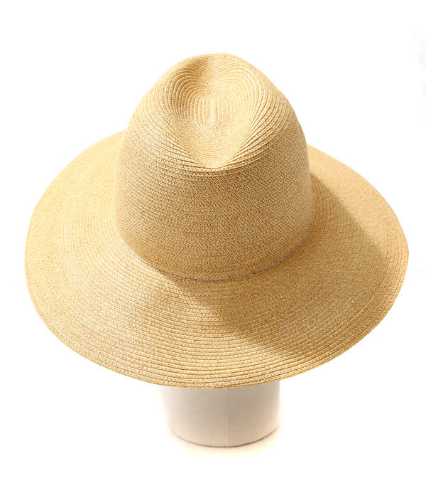 9cmPAPER BRAID TRAVELLER HAT (PLAIN)