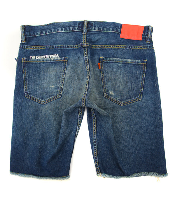 REPAIRED JEAN SHORTS LES