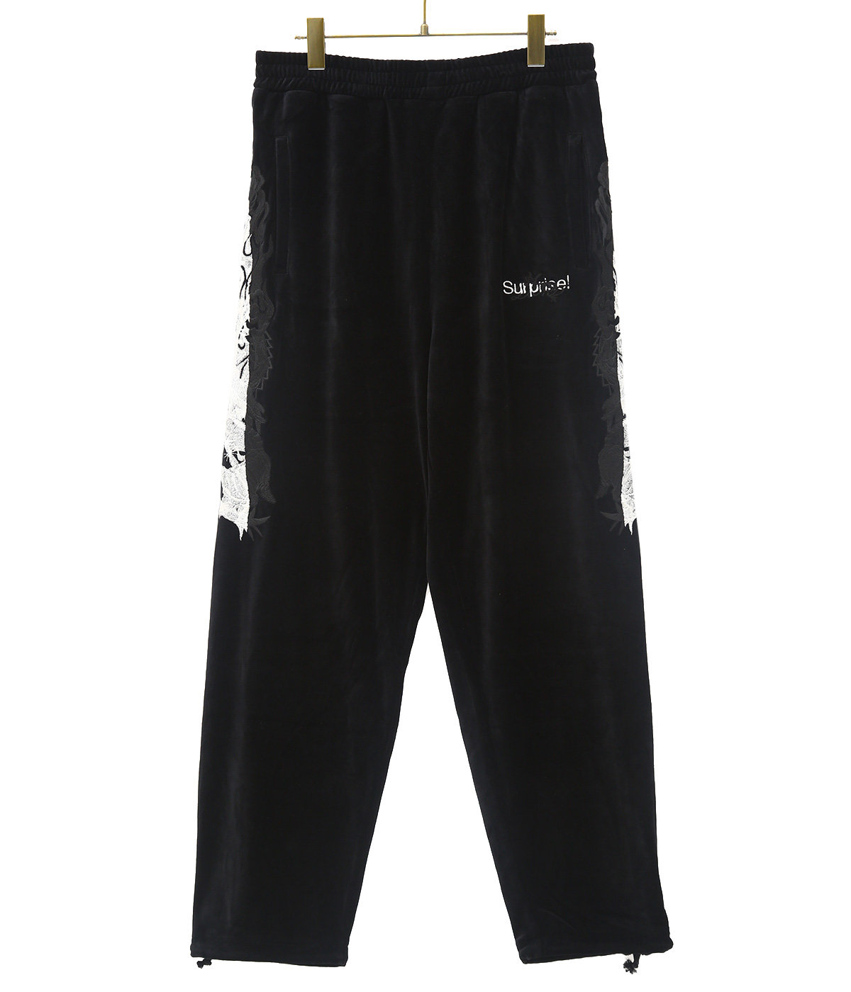 LINED CHAOS EMBROIDERY TRACK PANTS