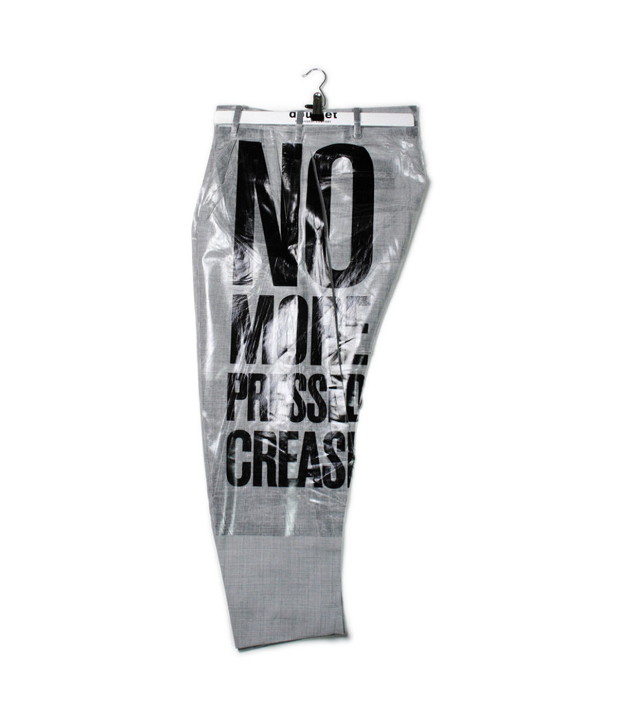 2D PACKAGED 3D CUTTING TROUSERS SAYS SLOGAN