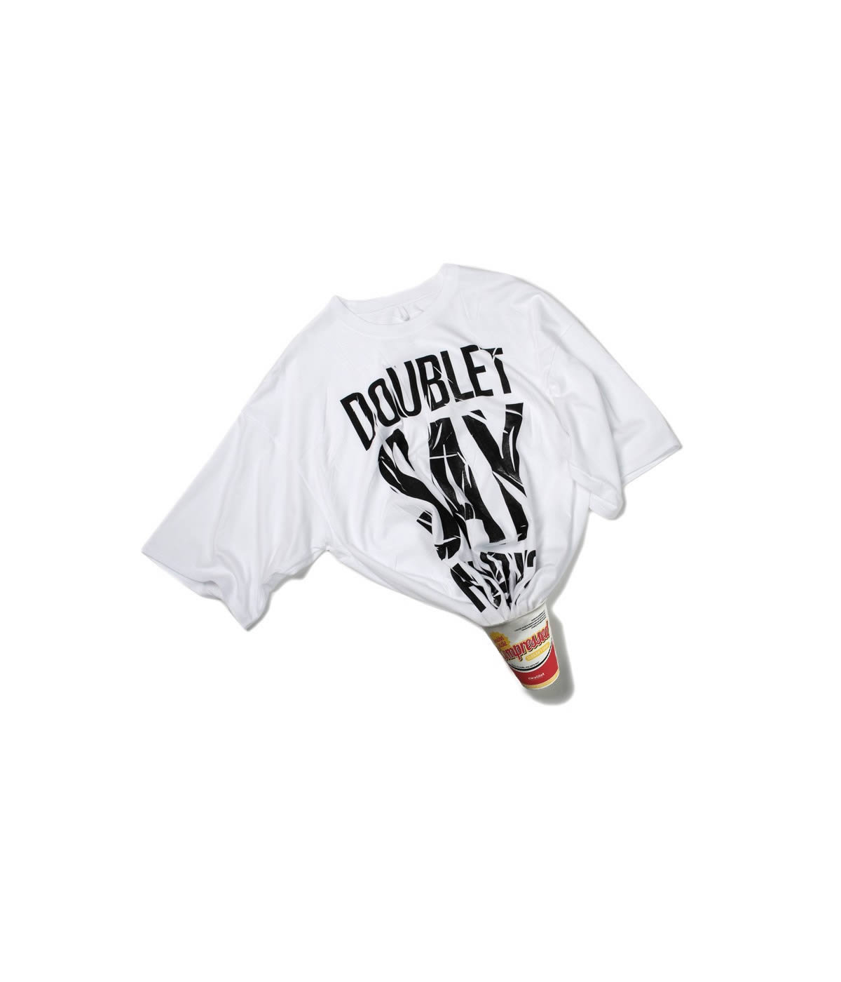 COMPRESSED SLOGAN T-SHIRT IN THE INSTANT NOODLE