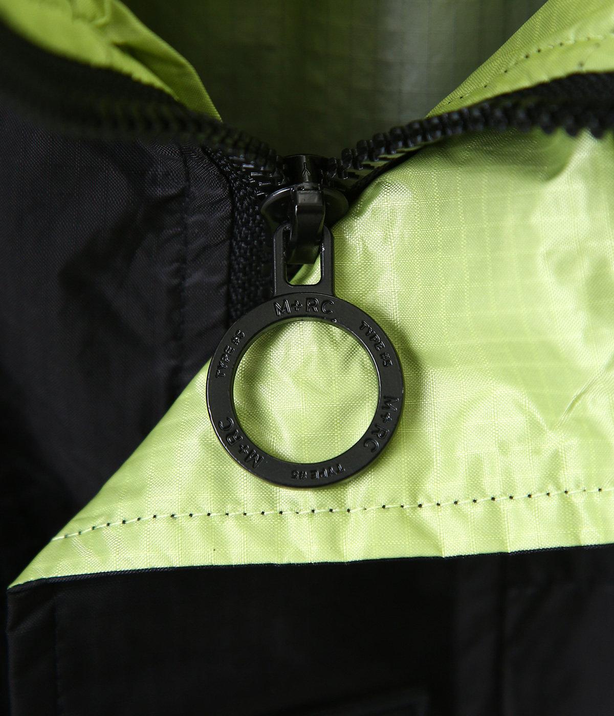 Block jacket green logo