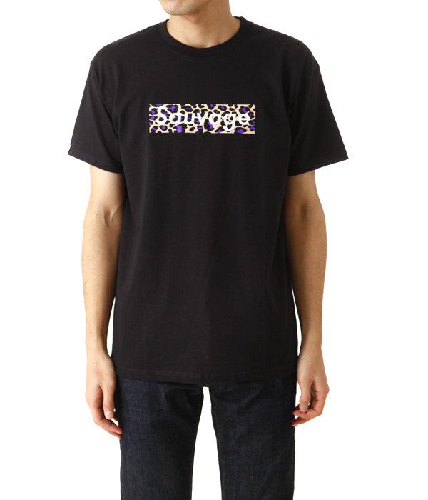 BLACK T-SHIRT Sauvage Leopard Logo (purple)