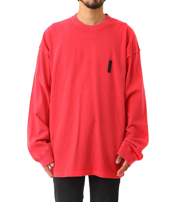 PIGMENT DYED STITCHING L/S TEE