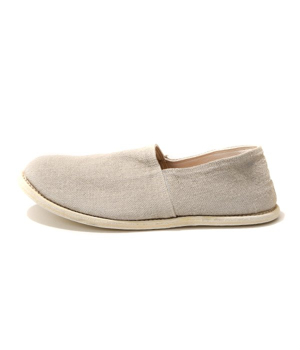 SLIP ON SOLE LEATHER -WHITE-