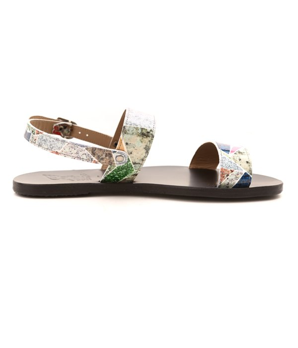 LEATHER PRINT TERRAZZO SHOES