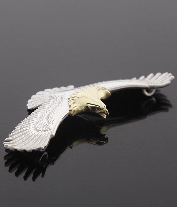 Eagle Pendant top Ruby-L