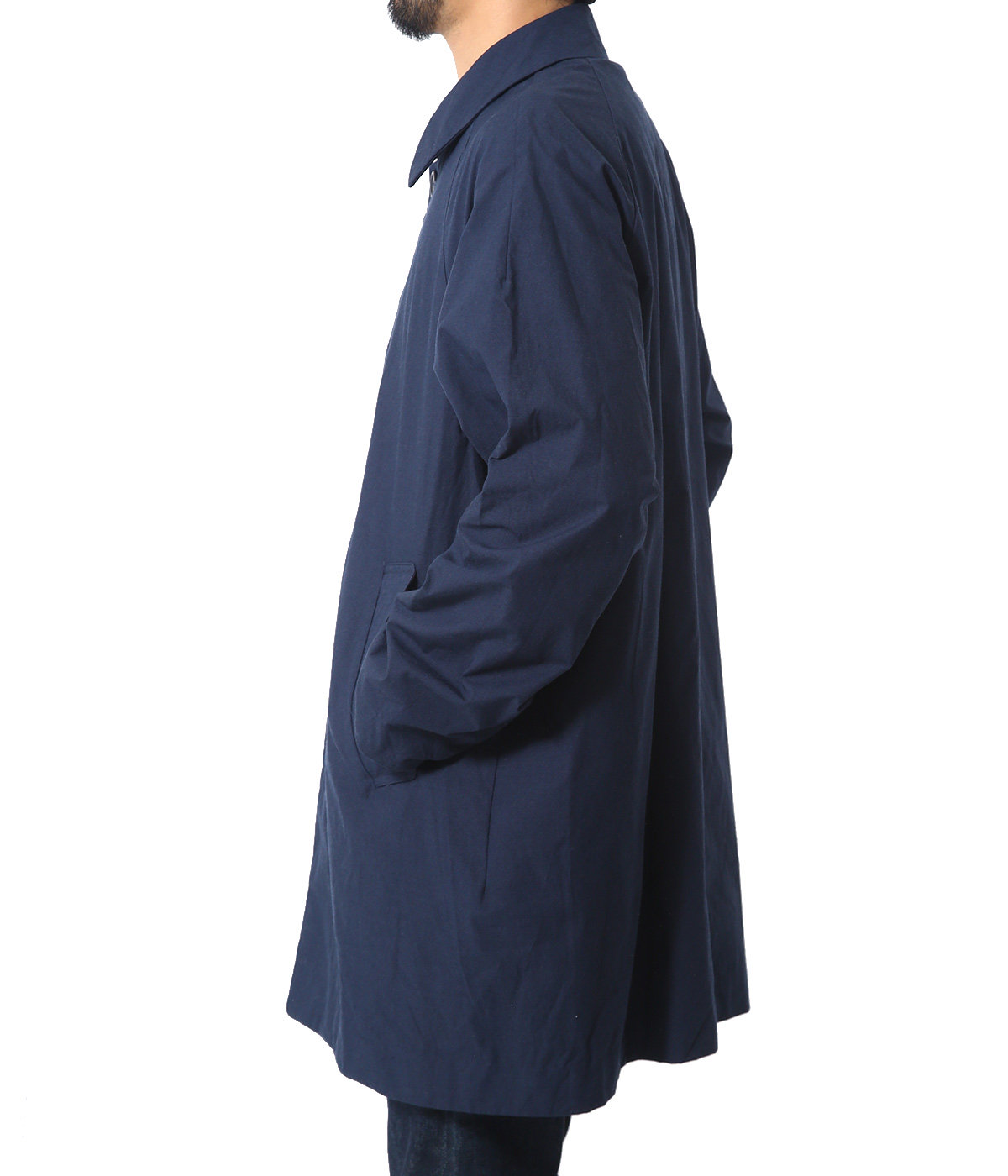 ステンカラーコート ショート