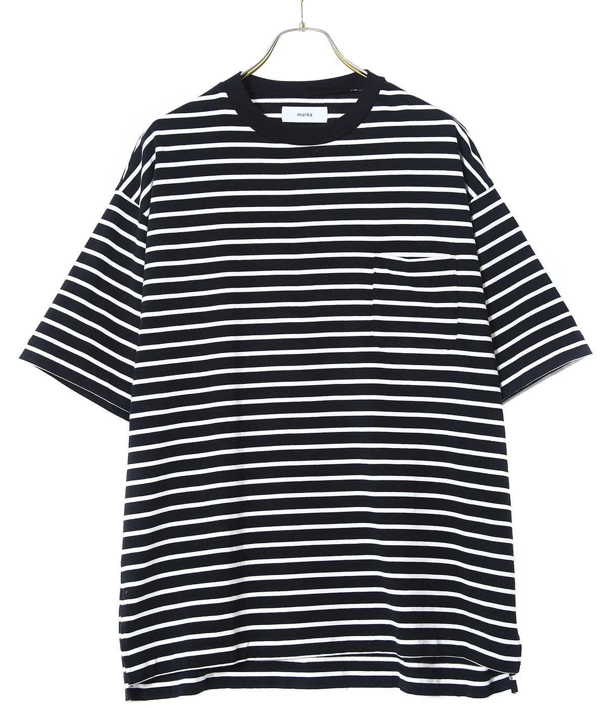POCKET TEE S/S - cotton knit boder -