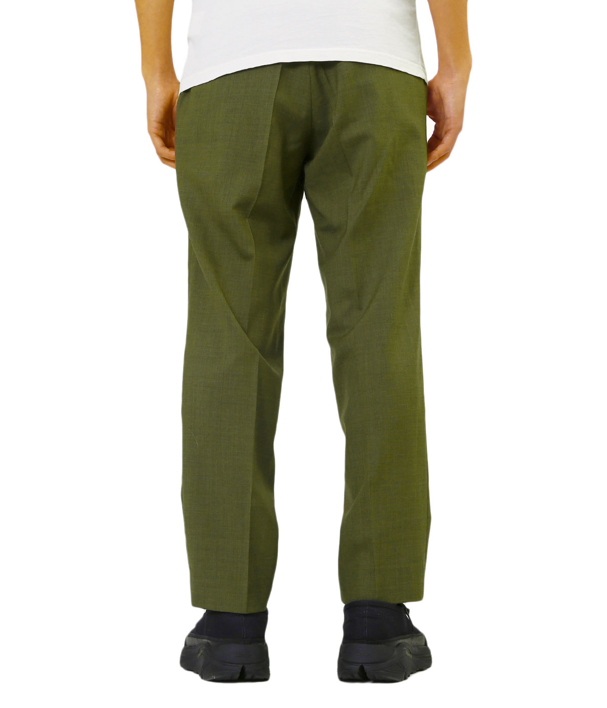 PEGTOP EASY TROUSERS -SUPER 120s WOOL TOROPICAL-