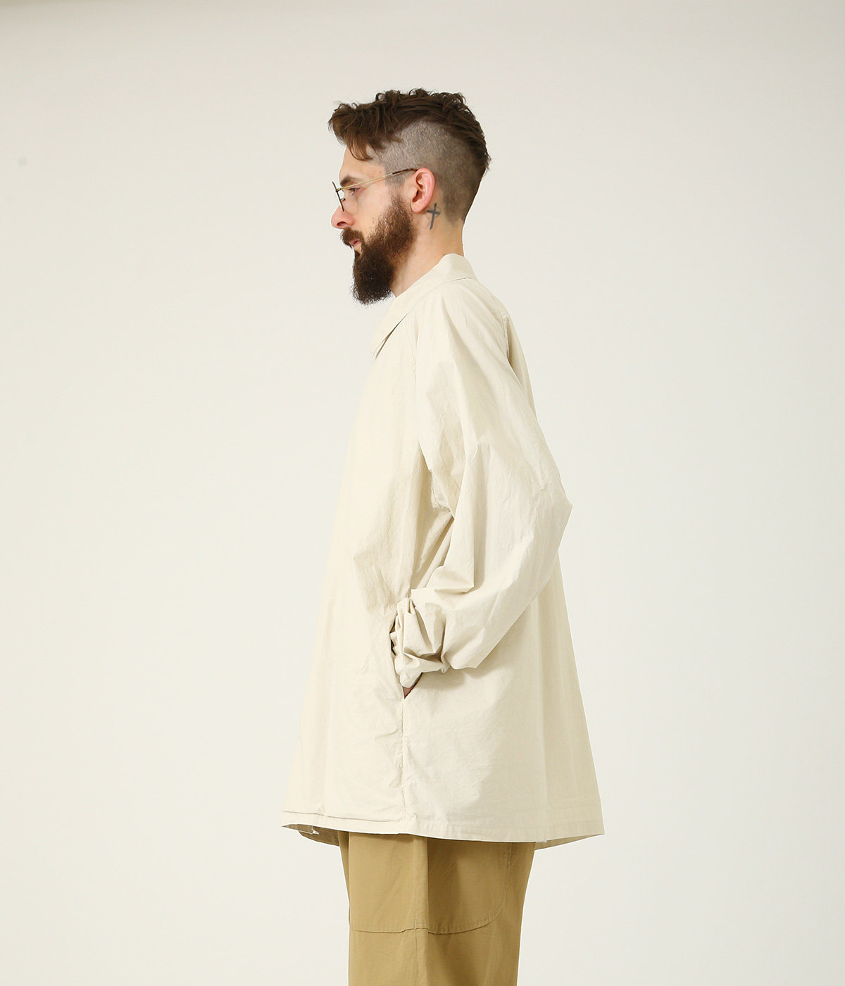 COTTON 80/ SILK 20 120/2 BROAD SNAP SHIRT