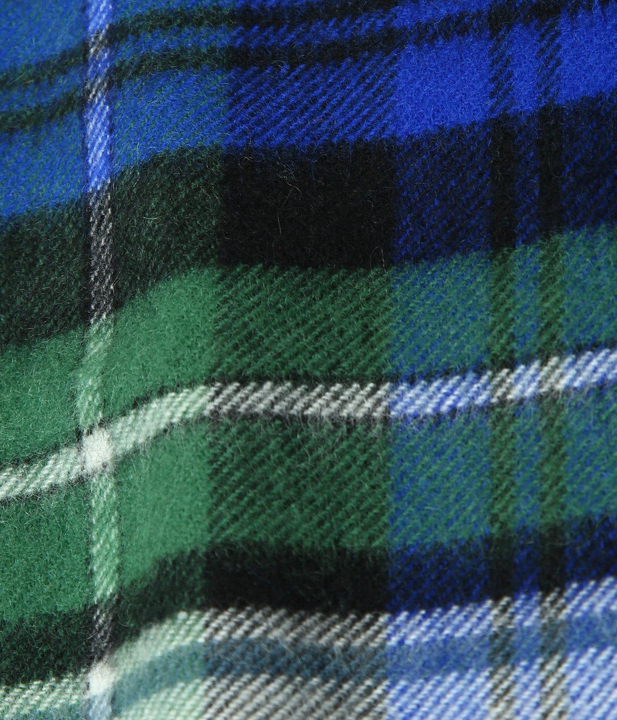 【レディース】<CASHMERE STOLES (190cm×70cm)>-GREEN×BLUE-