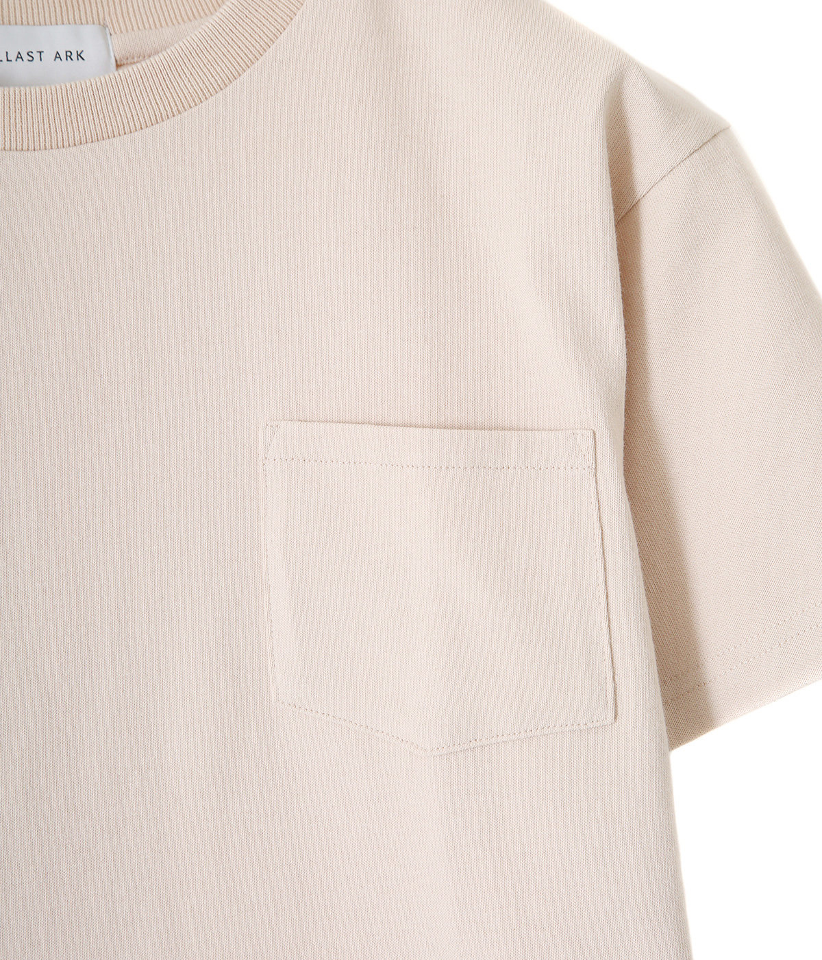 CREW NECK POCKET TEE