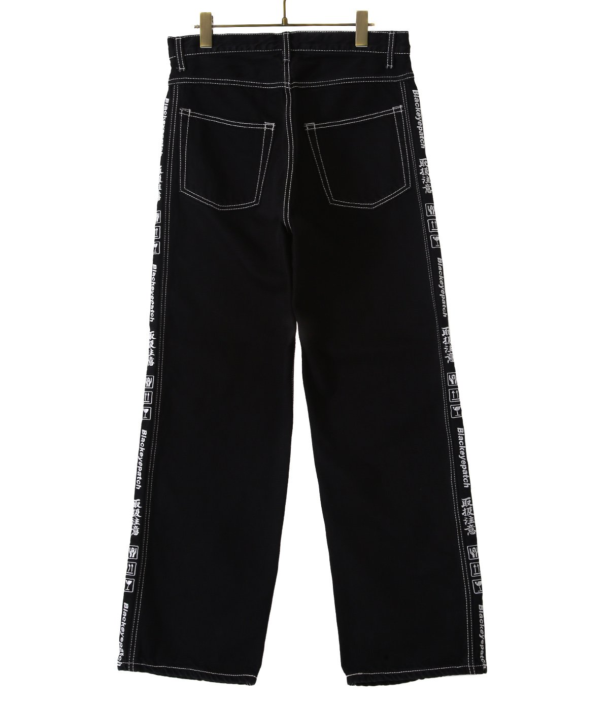 HANDLE WITH CARE DENIM PANTS (BOLD STITCHED)