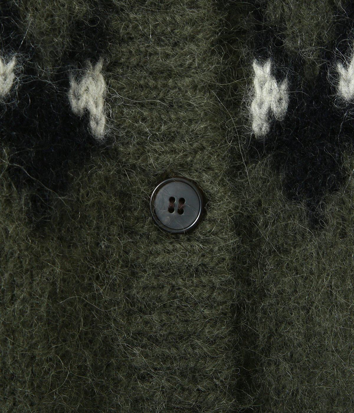 【予約】【レディース】MOHAIR NORDIC CREW NECK CARDIGAN
