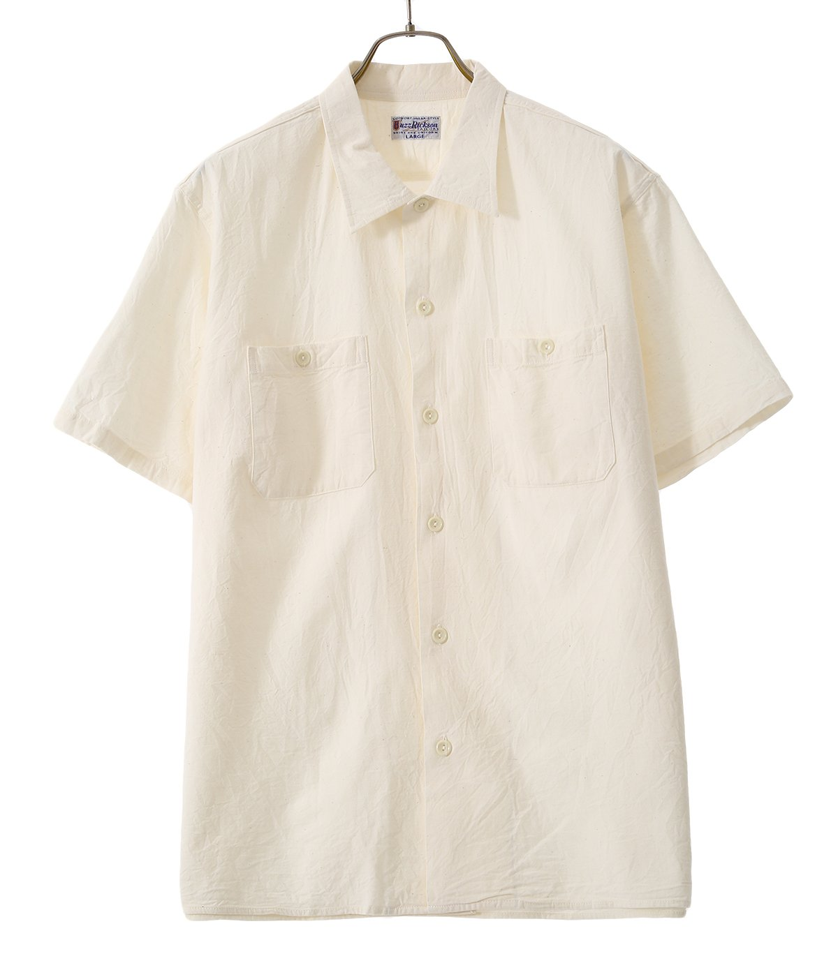 WHITE CHAMBRAY S/S WORK SHIRT